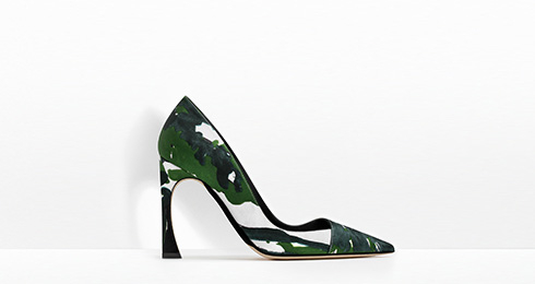 Dior Floral Print Silk Shoes